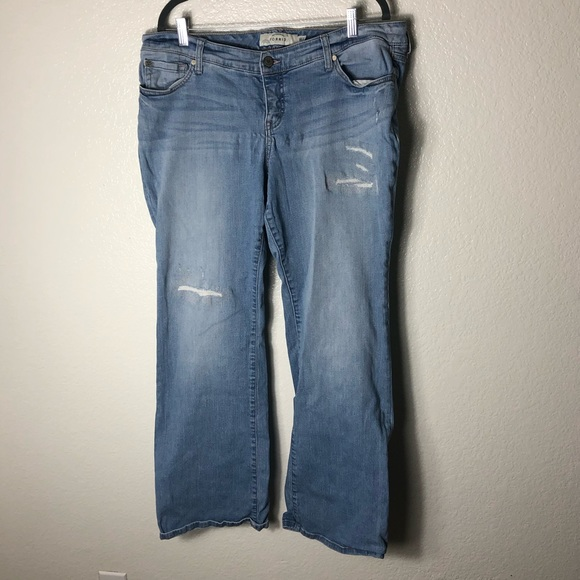 Torrid Relaxed Boot Cut Distressed Jean